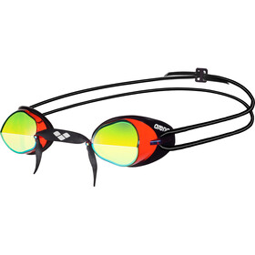 arena Swedix Mirror Goggles red-yellow-black